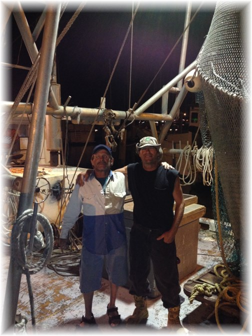 Corpus Christi shrimp boat Smurf and Poggy 5/2/14