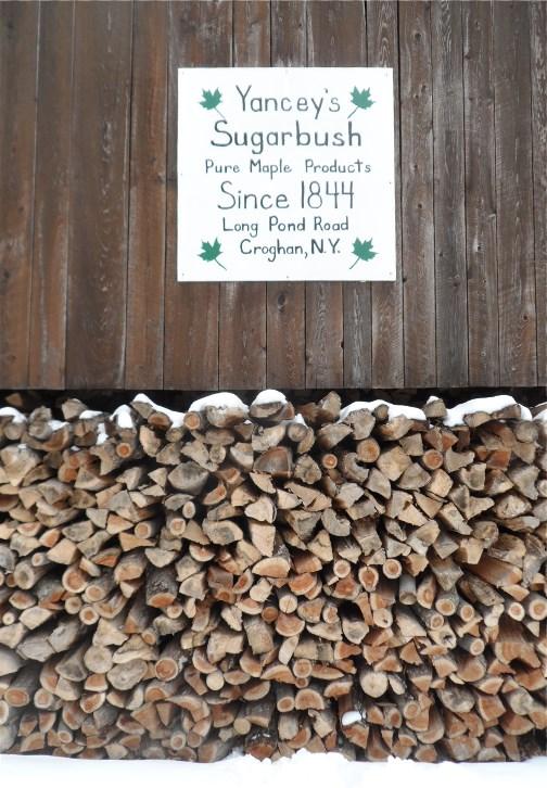 Yancey's sugarbush shanty 3/24/13