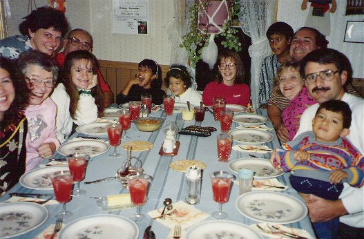 Weber family meal 1988