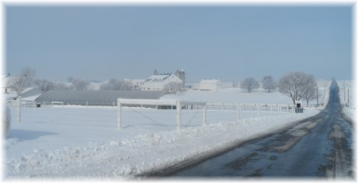 Winter scene on Eby Chiques Road, Lancaster County, PA 2/4/14