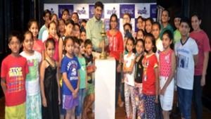 Natrang Director, Balwant Thakur, inaugurating Summer Theatre Workshop for Children at Jammu on Monday.