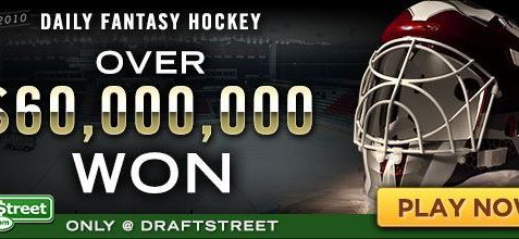 Play Fantasy Hockey and WIN