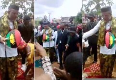 IPOB women throw down their wrappers in honour of Nnamdi Kanu