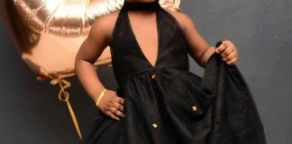 Cutie Miss: Amazing adultlike pose of Timaya's daughter at 2 today