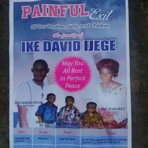 Tragic: Entire family killed by Badoo cult Group to be Buried on Friday