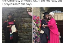 Nigeria's best graduating student from University of Wales Celebrates own success