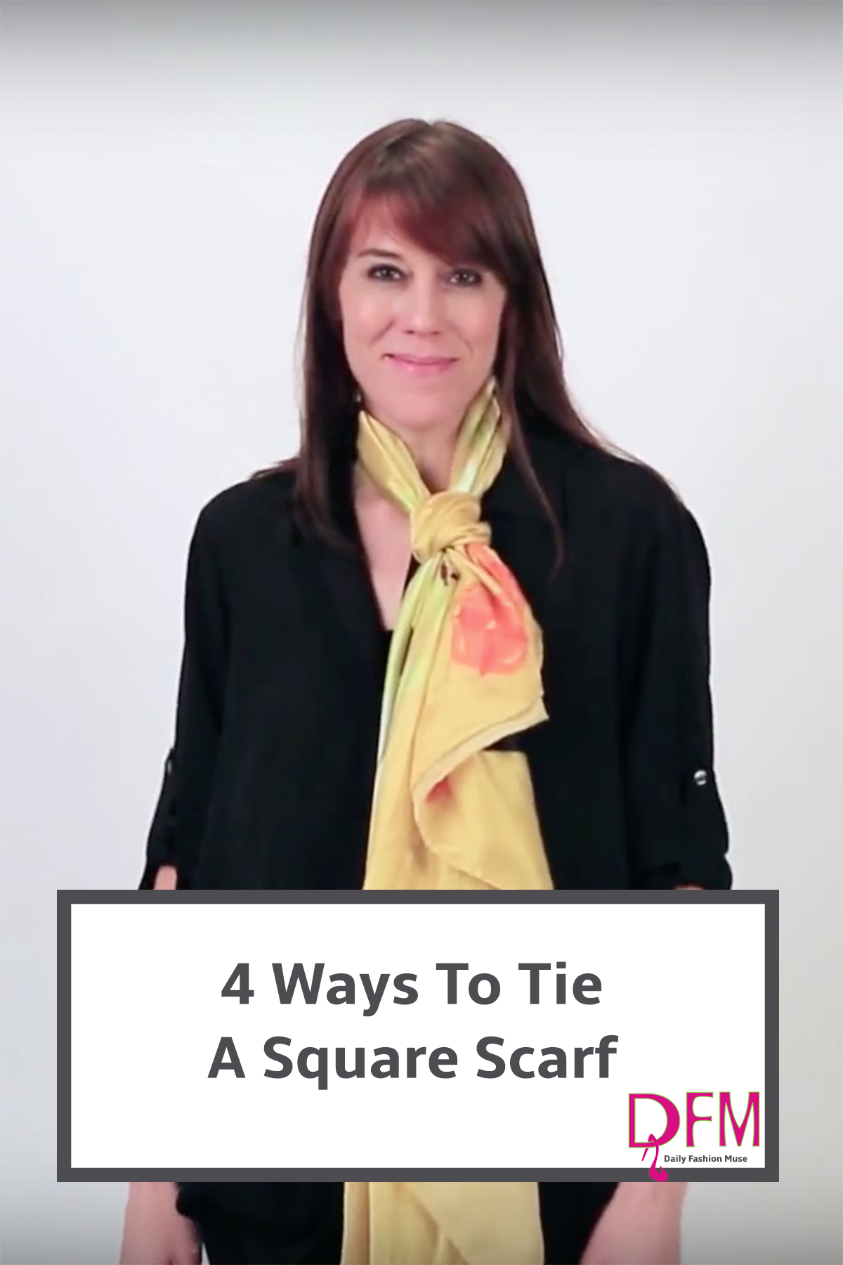 4 super easy and unique things to do with your square scarves. Click to watch video.