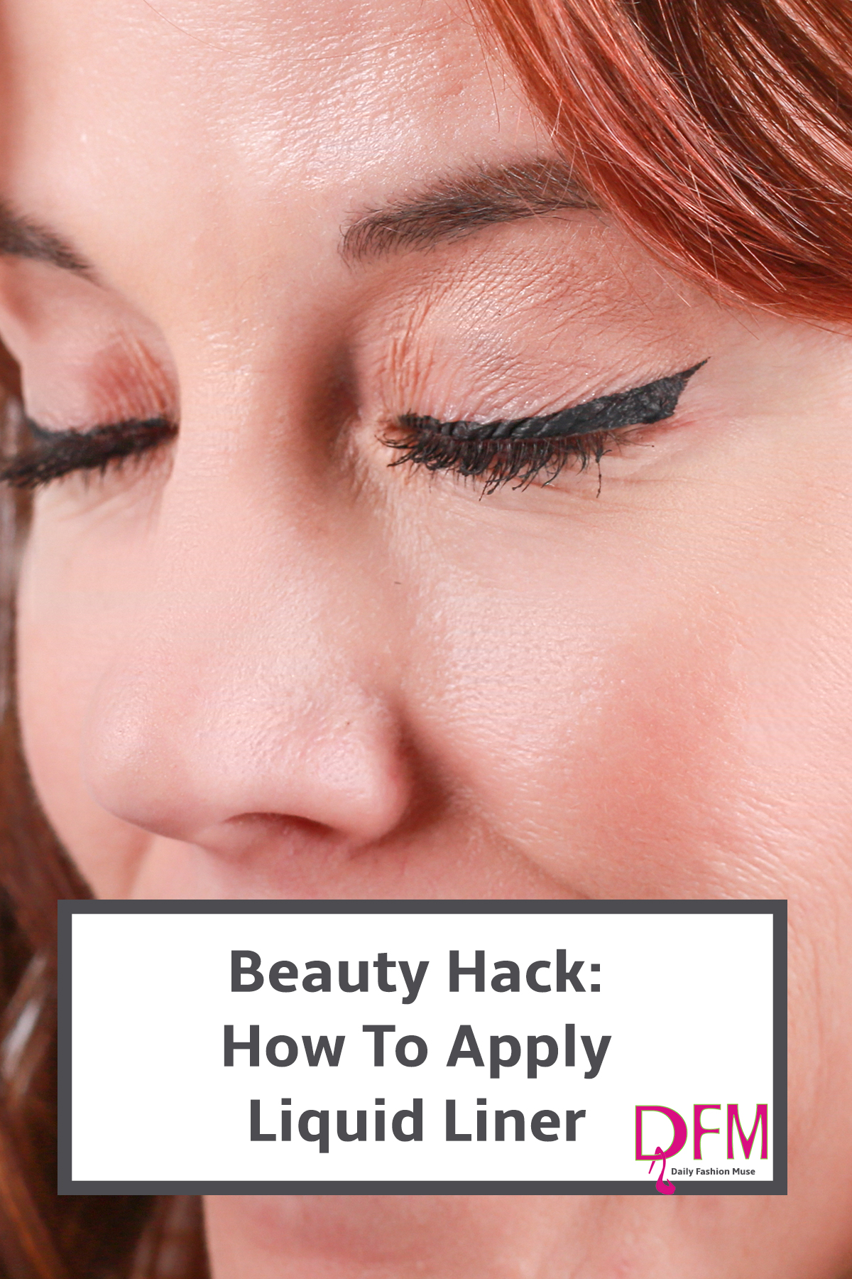 If you can never get your liquid liner to look the same on both eyes, try this beauty hack for perfect liquid liner every time.