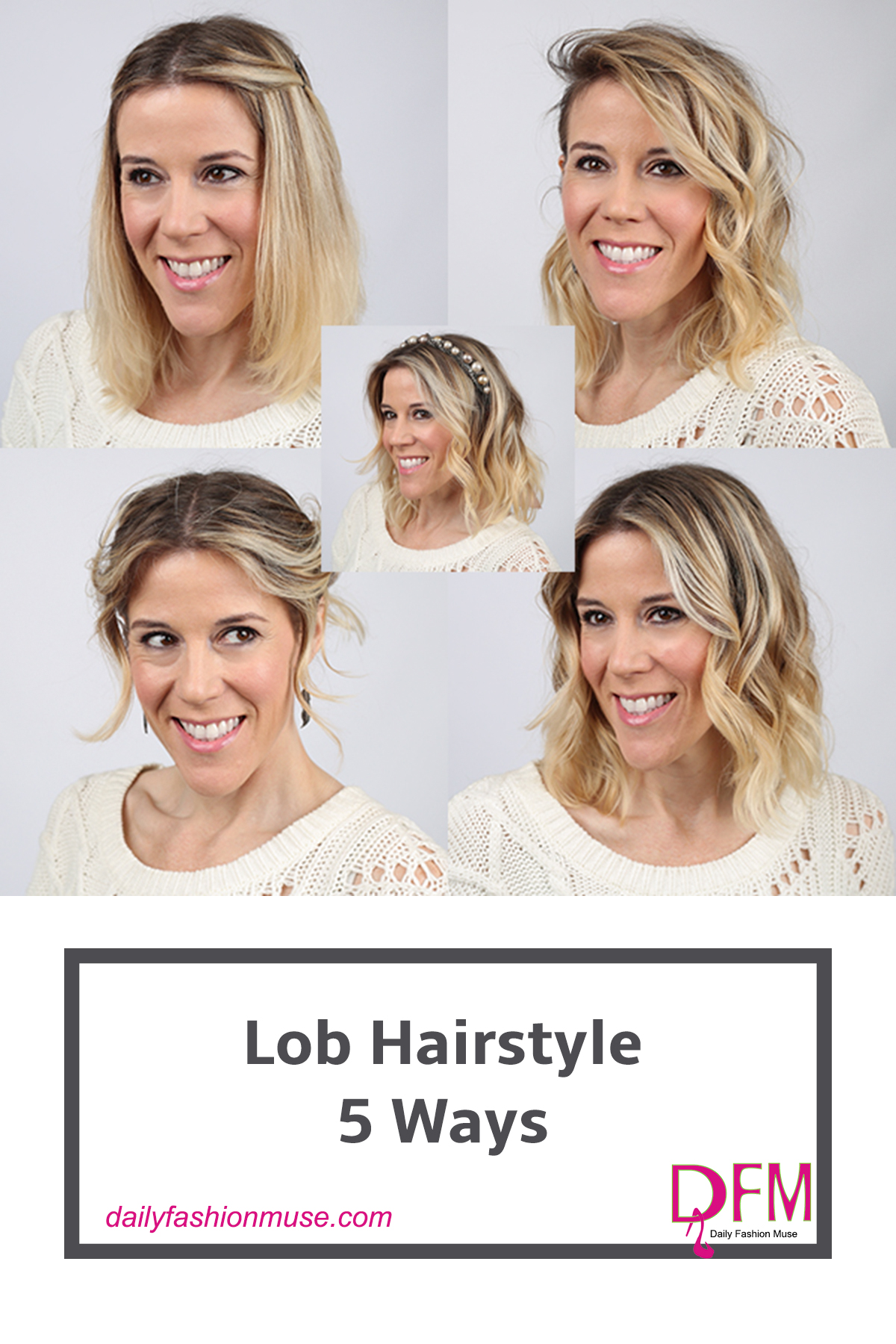 Lob hairstyles (better known as long bobs) are in high demand since many of succumbed to chopping off our locks this past year. Click to read about 5 ways that I like to style my lob.