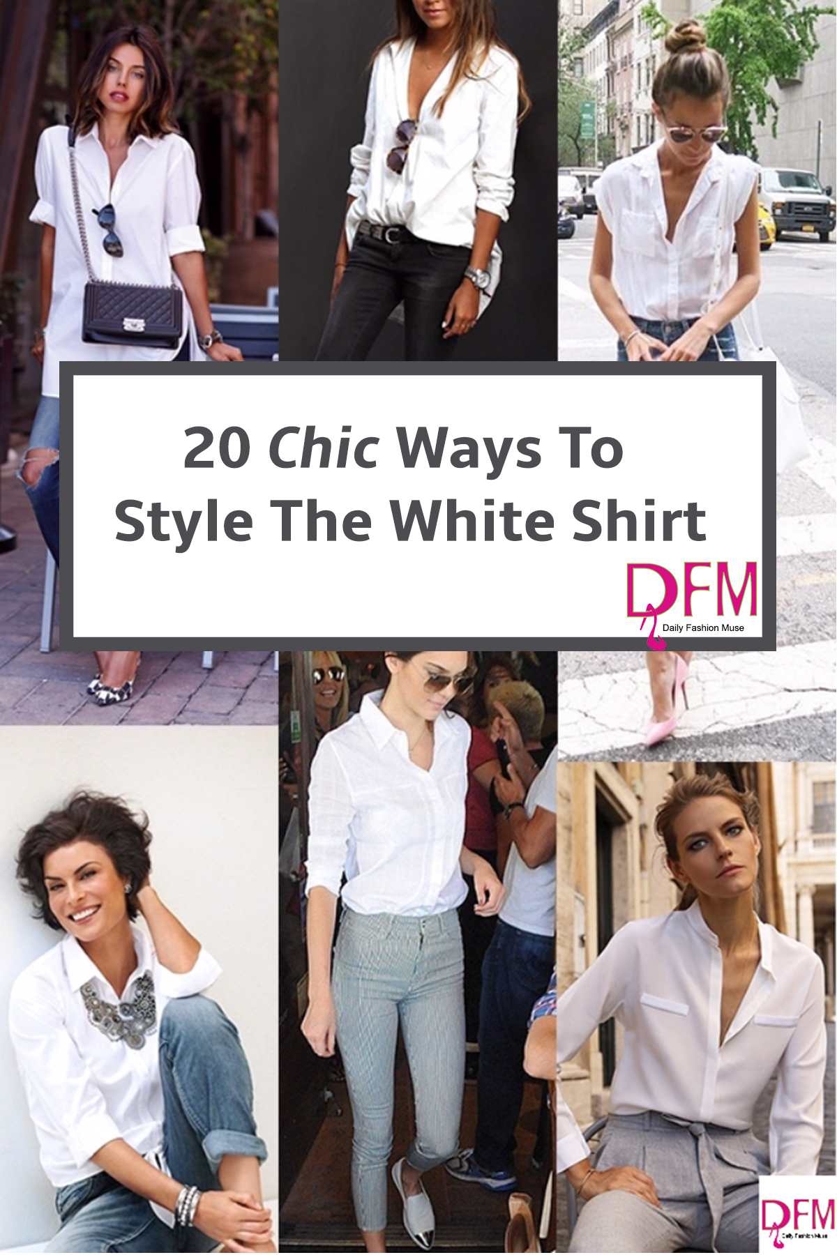 Looking for new inspirational ways to style your white shirt? Click through to view the gallery..