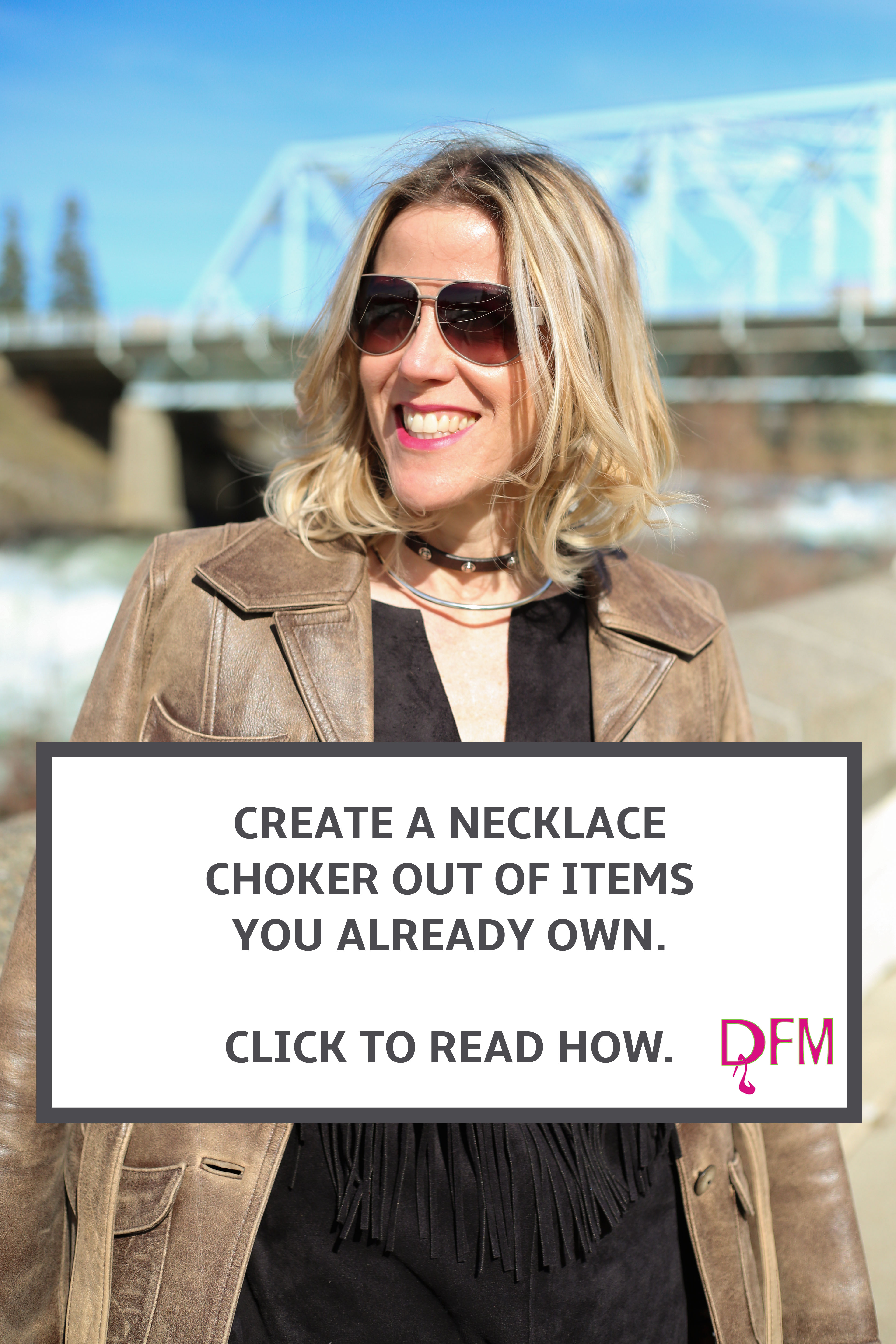 Want to know how to create a necklace choker out of items you may already own? Click through to read about what I discovered hidden in my jewelry box.