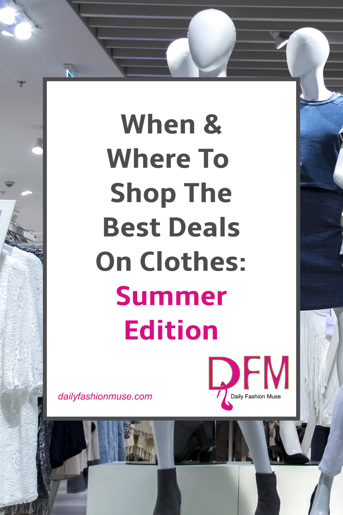 Want to be in the know when finding the best deals on clothes? Click through and read this post. I'm going to let you in on some retailing secrets about which months and what to buy during those months to score the best prices on clothing.