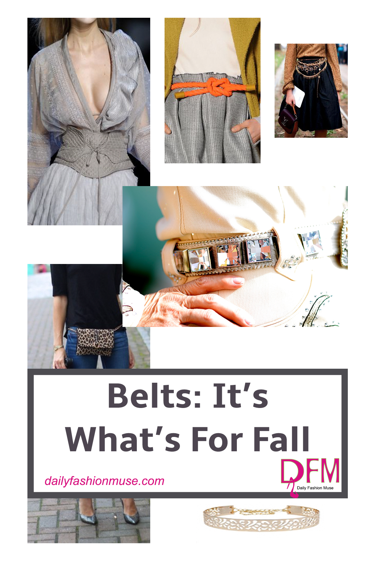 Fall belt trends for 2016/2017 are anything but for holding up your pants. It is all about excess and showcasing that beautiful waistline.