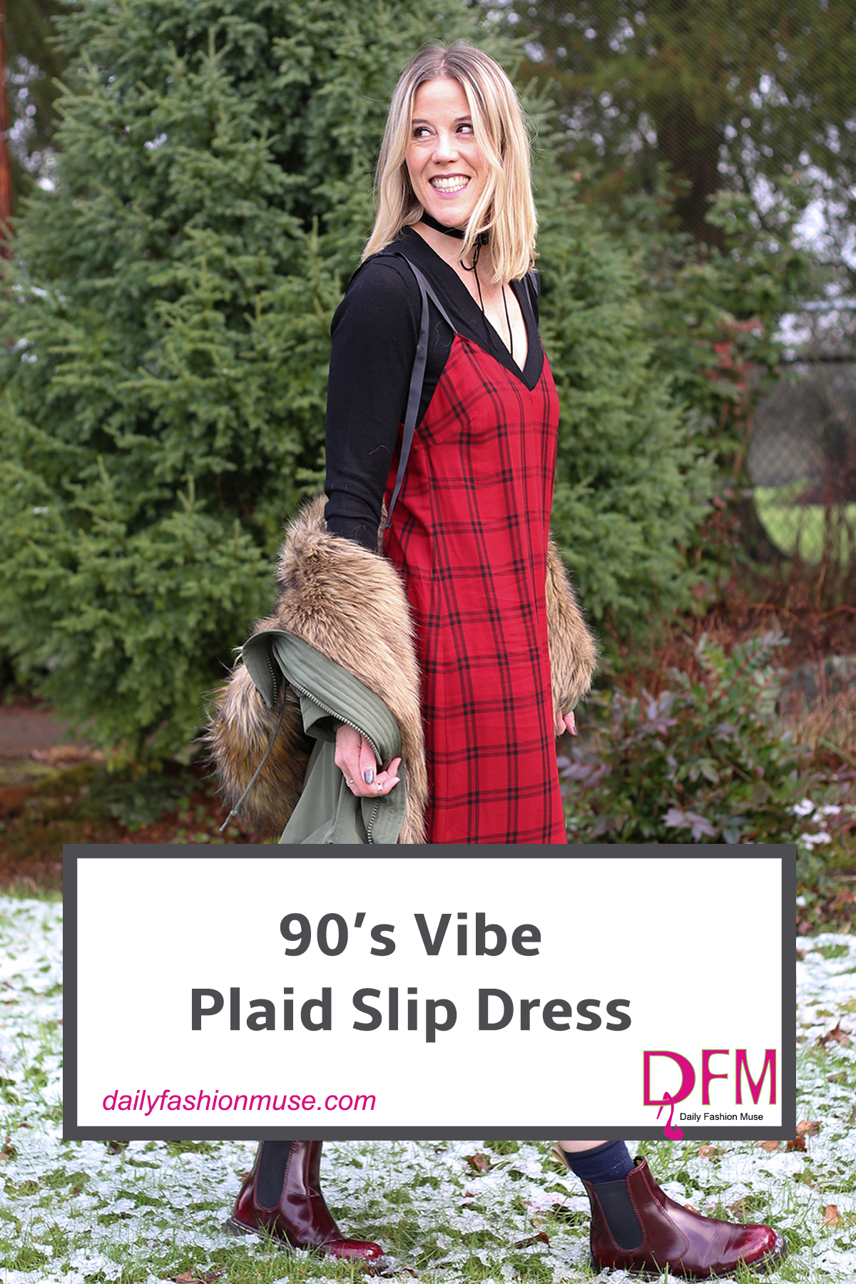 The 90's plaid slip dress and Dr. Martens trend has become one of the slickest ways to repurpose those lightweight summer dresses. Click to read.