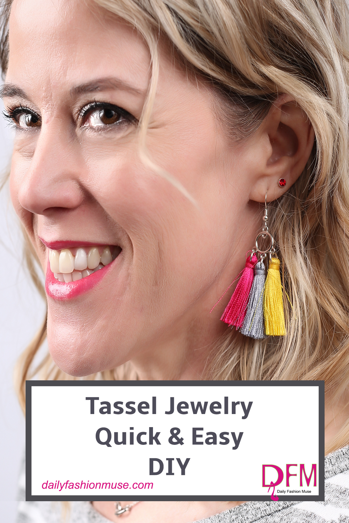 Tassel jewelry has been turning up in all the trend reports for Spring. Why not create your own pieces. Click here for some easy DIY tassel jewelry.