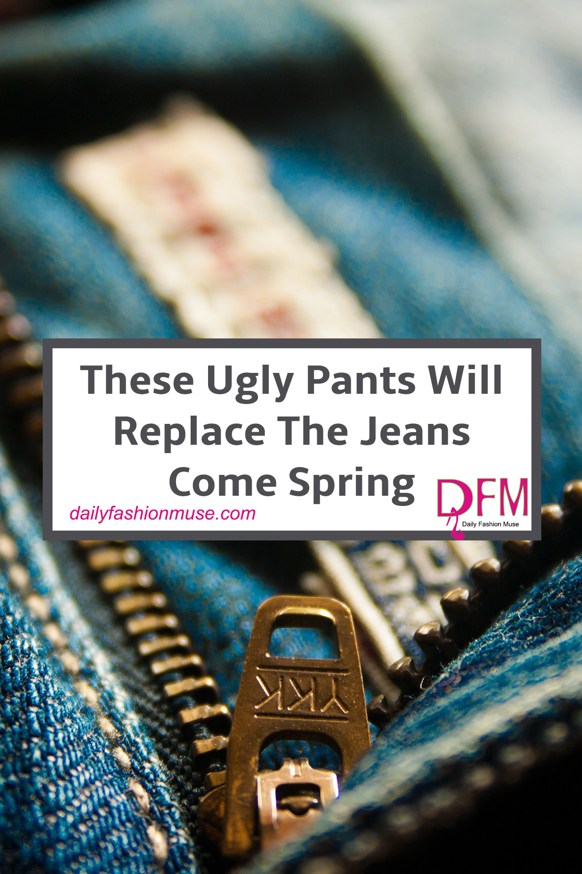 """Ugly pants are trending for spring. Magazines say they will be this year's """"it"""" jean. Will you wear the khakis trend? Check out new styles that may inspire"""