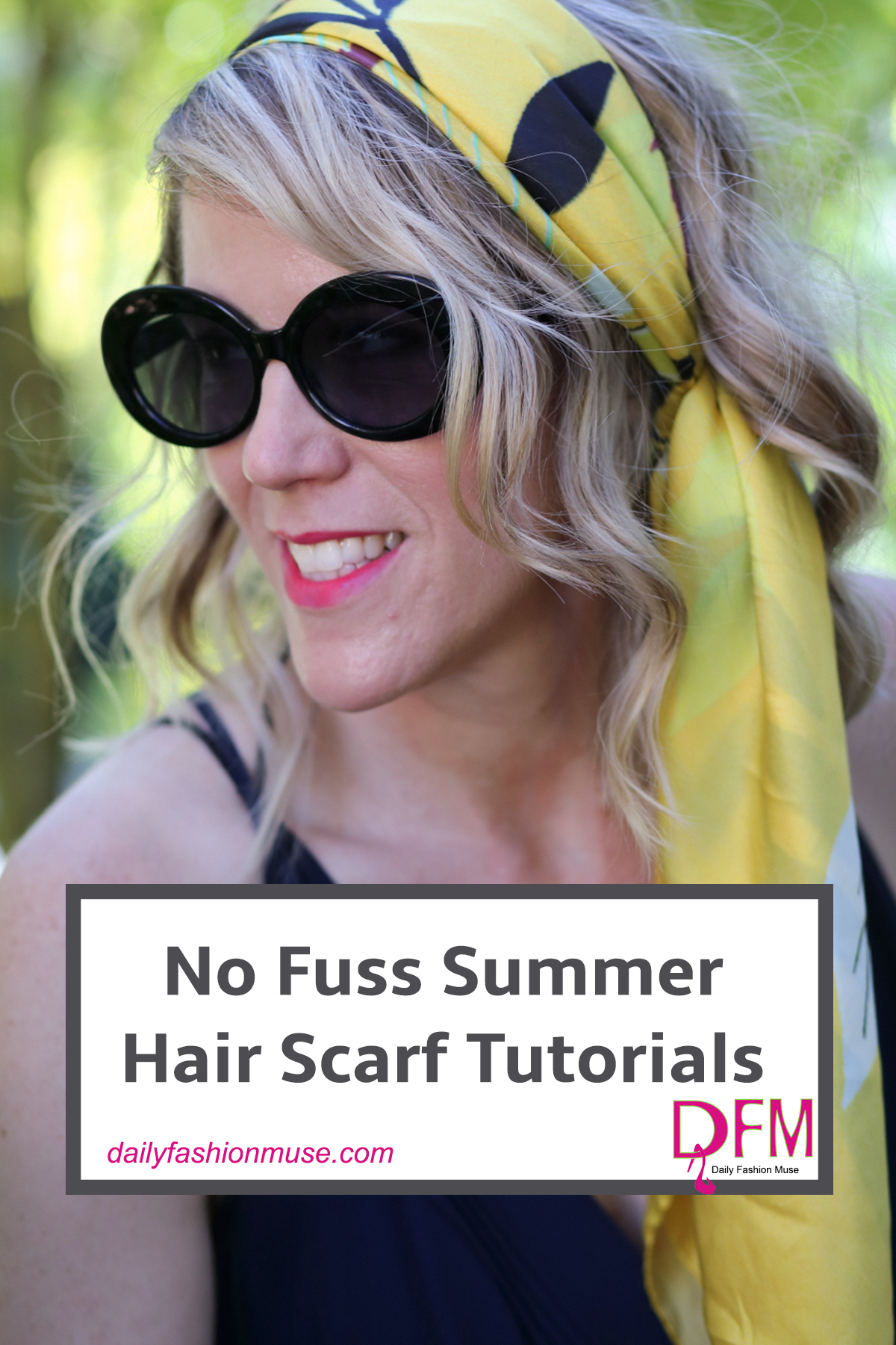 If the thought of pulling out the hair dryer and styling your hair in summer has you sweating. Try this easy summer hair style. Scarf Tutorial.