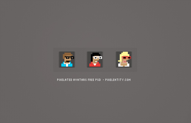 Cartoon Pixelated Avatars (psd)