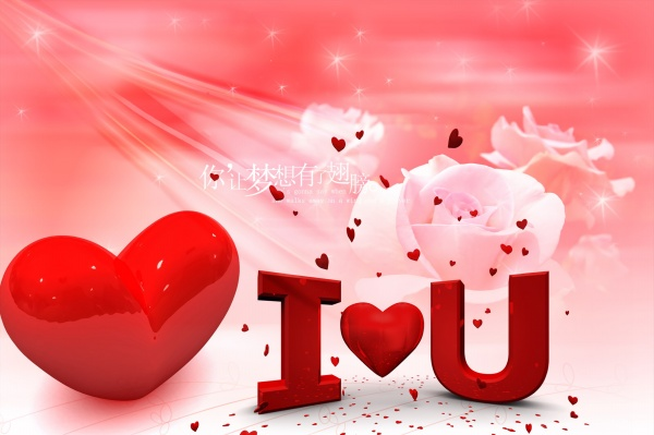 Creative and romantic Valentine's day psd