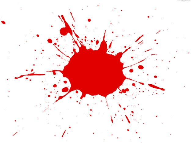 red paint splatter psd