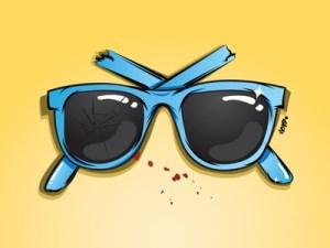 Fantastic vector glasses illustration