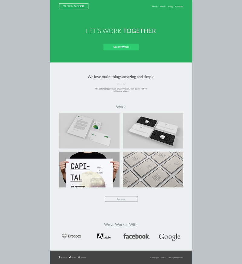 home page template