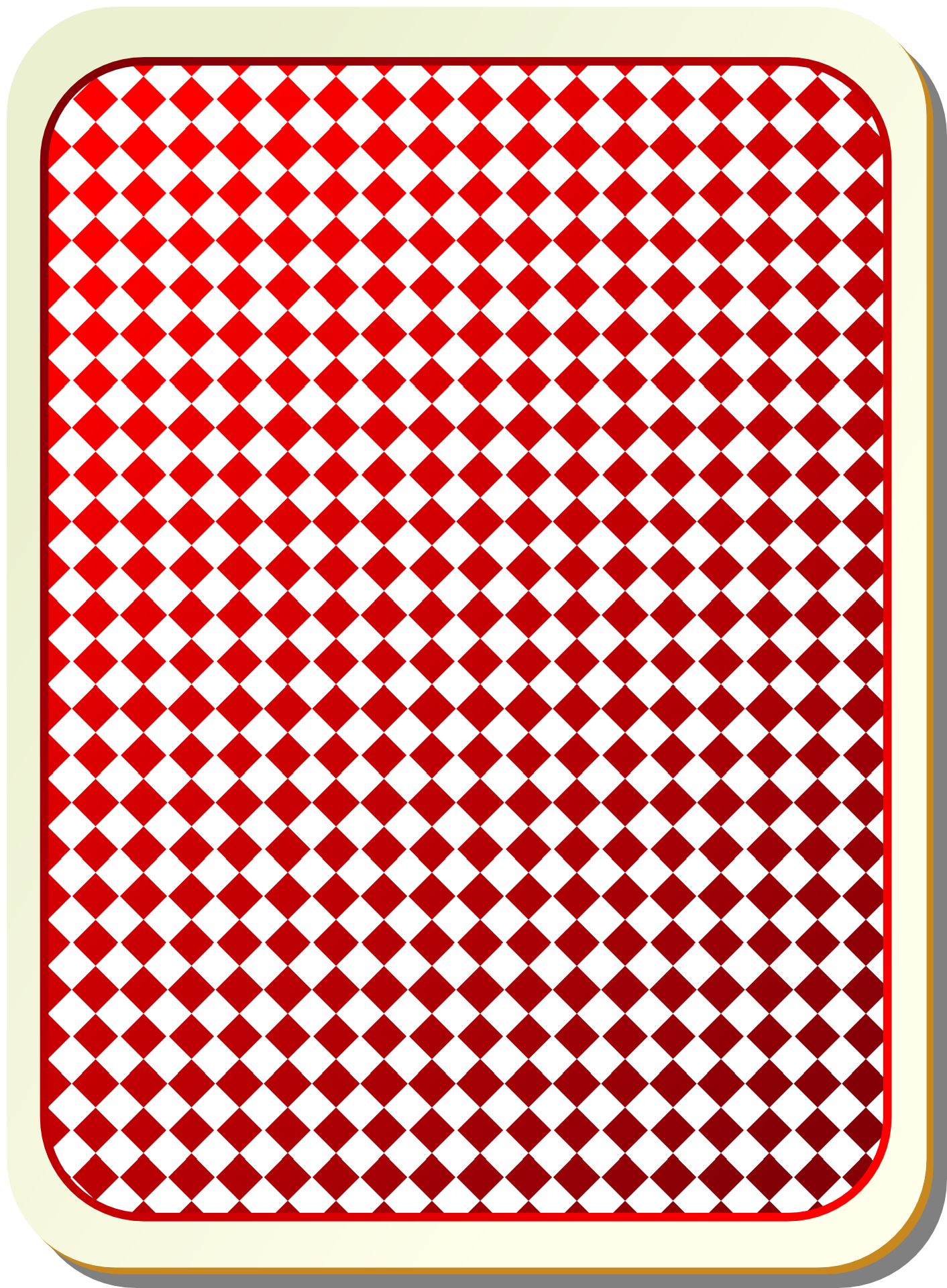 Back of playing card-poker pattern vector