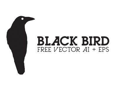 Black Bird - Free Vector AI + EPS