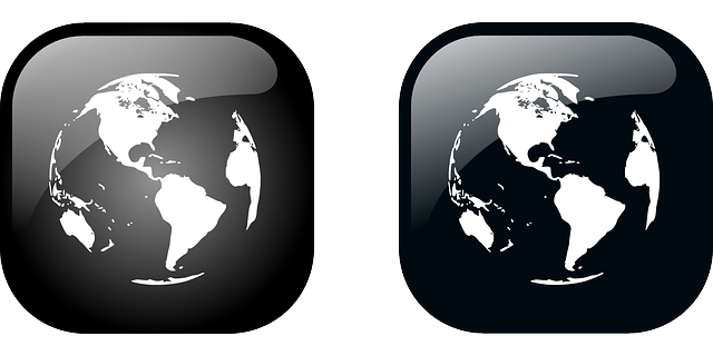 Black earth icon vector