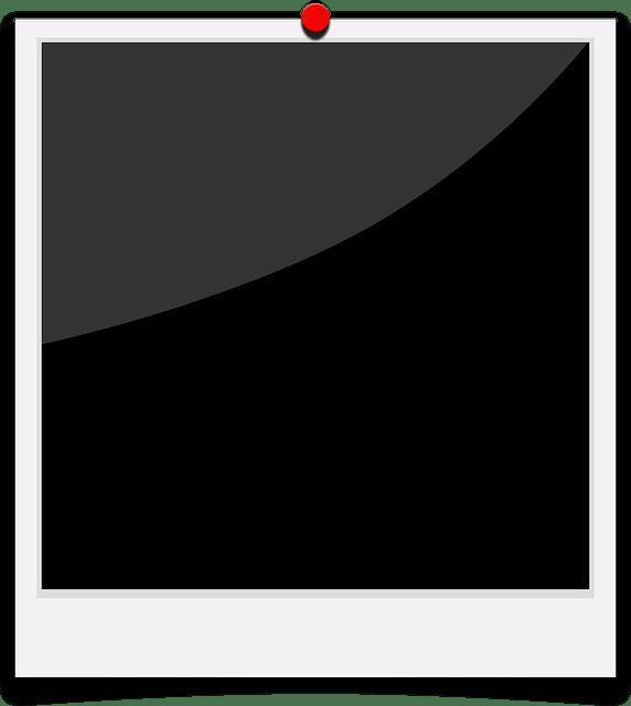 Black polaroid frames free vector