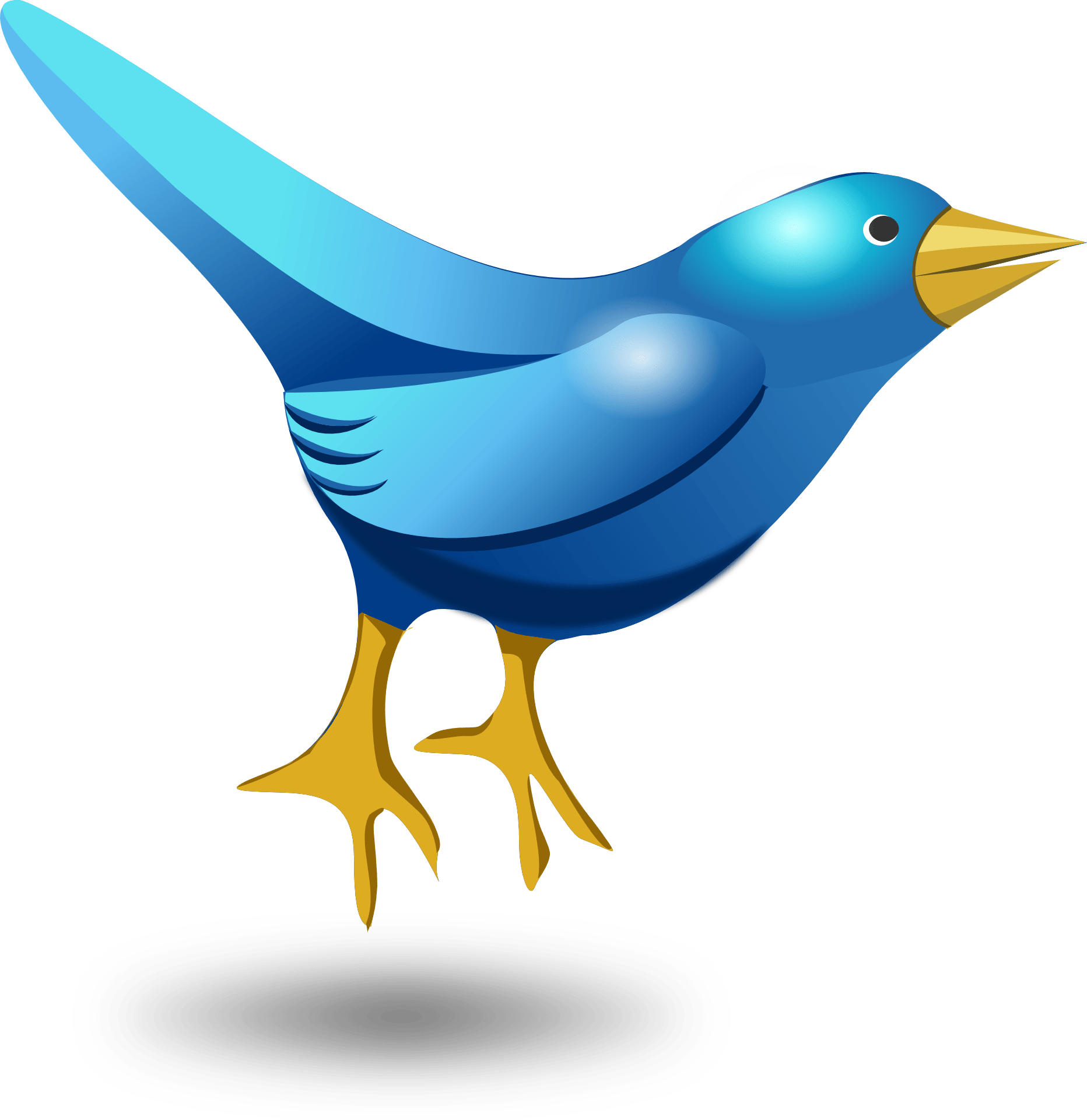 Blue cartoon bird,symbol of twitter vector download