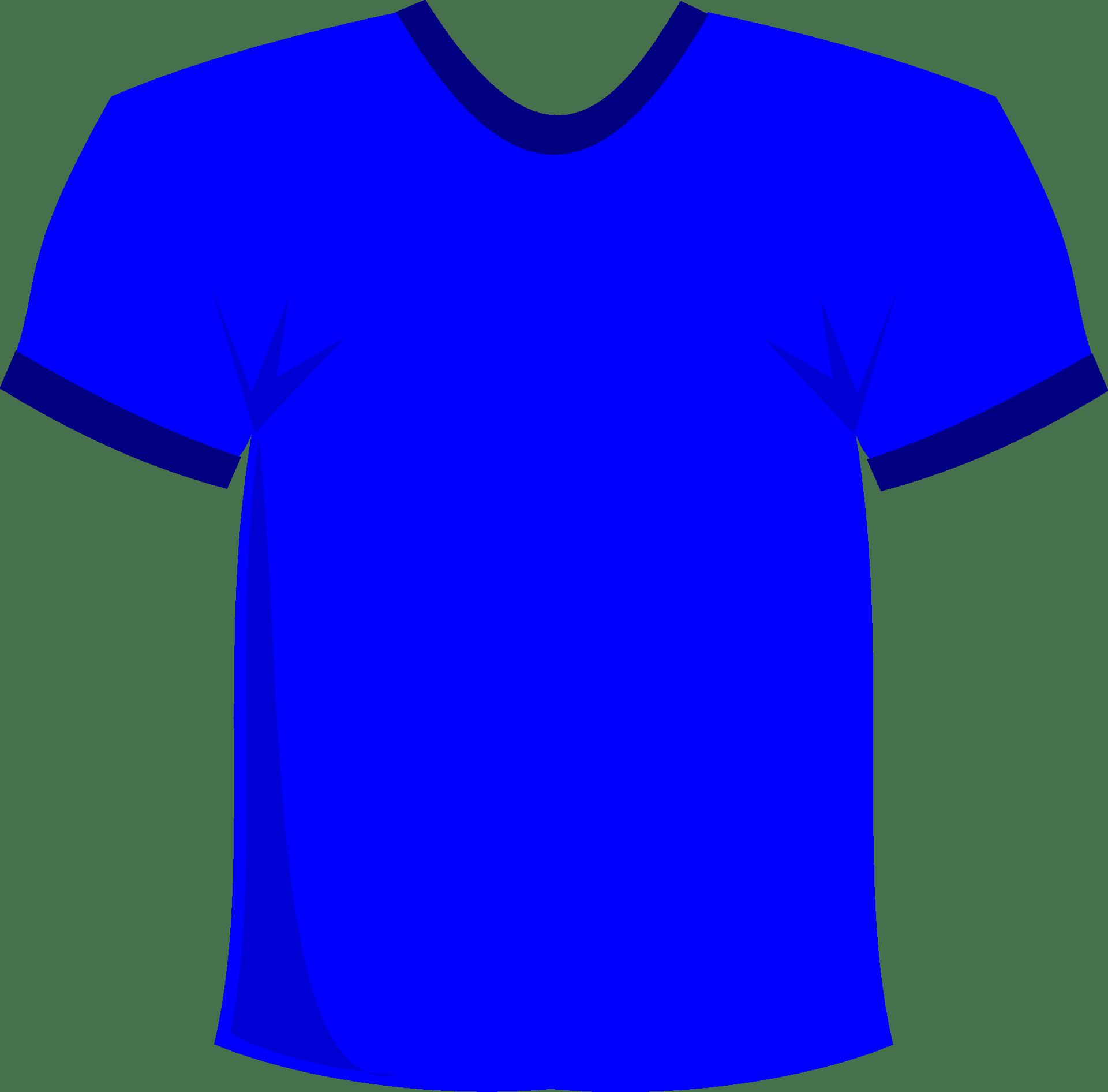 Blue,short sleeved T-shirt vector