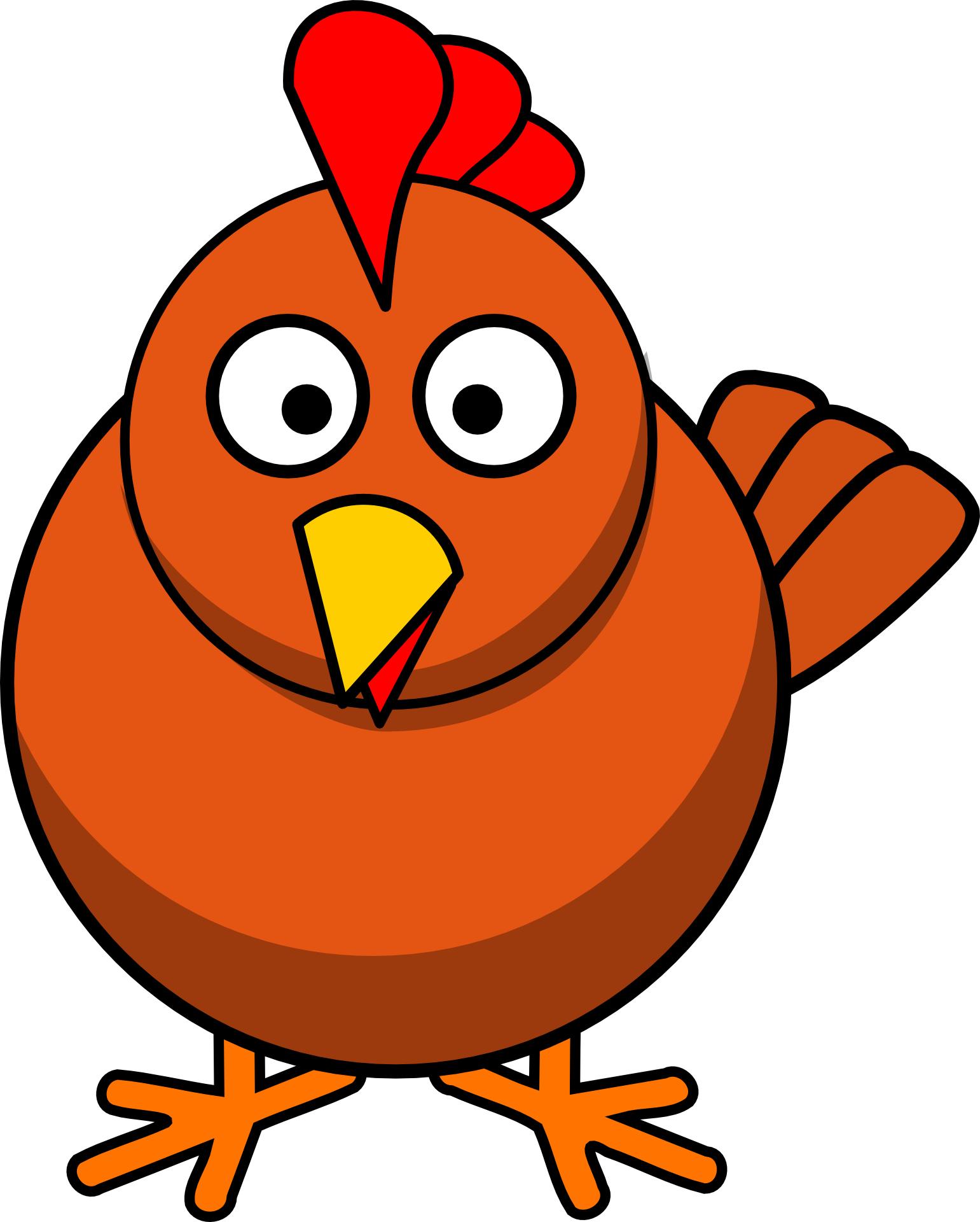 Cartoon animal,red,bird vector