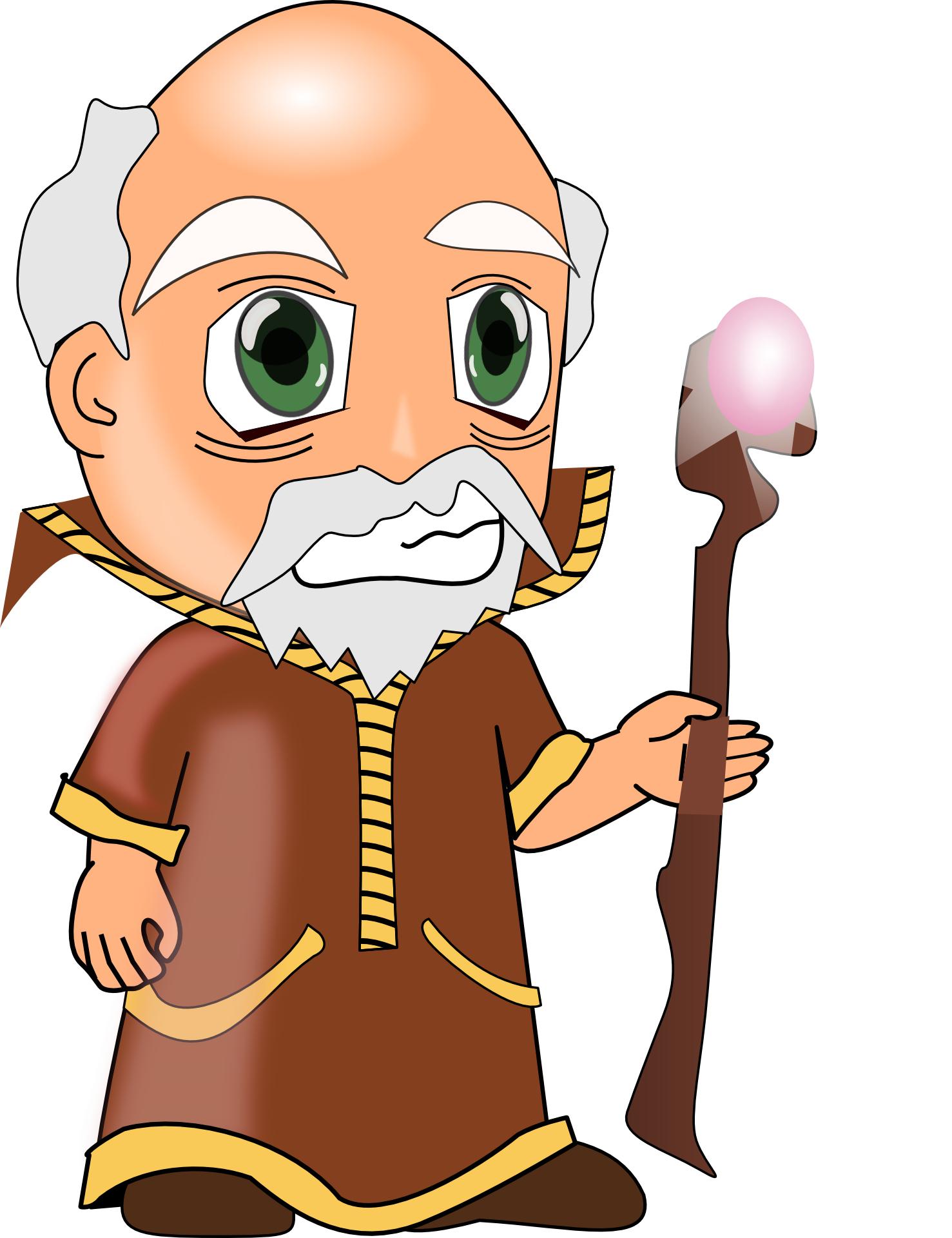 Cartoon people,wise old man vector