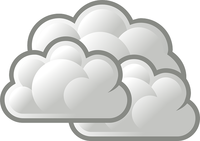 Cloudy Overcast weather icon vector