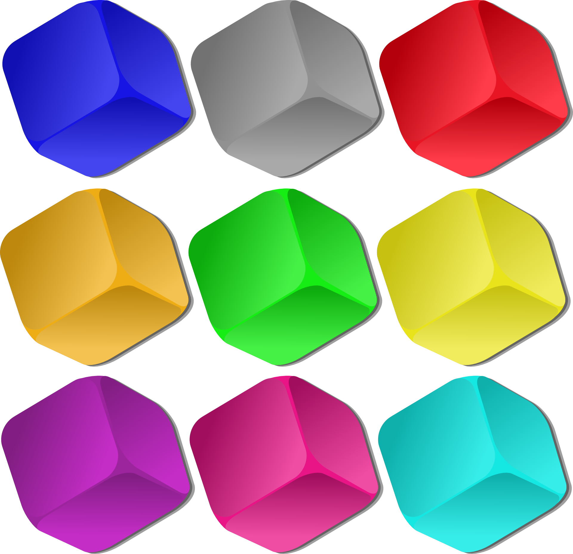 Colorful cube vector