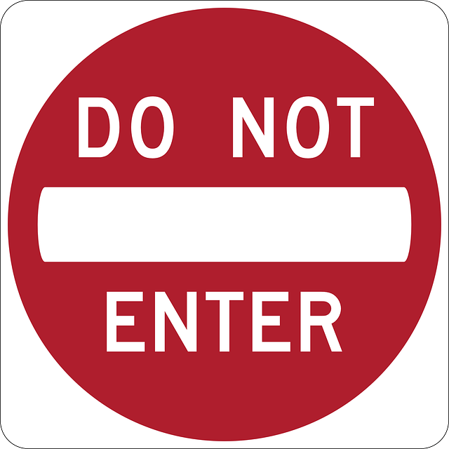 Do Not Enter signs free vector
