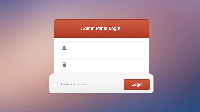 Exquisite Admin Panel Login Free PSD