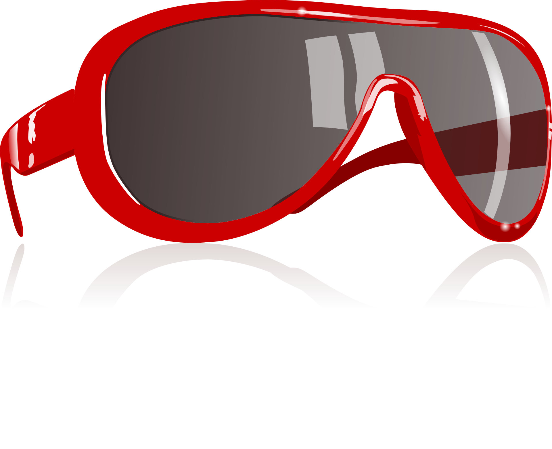 Fashion Red sunglass vector