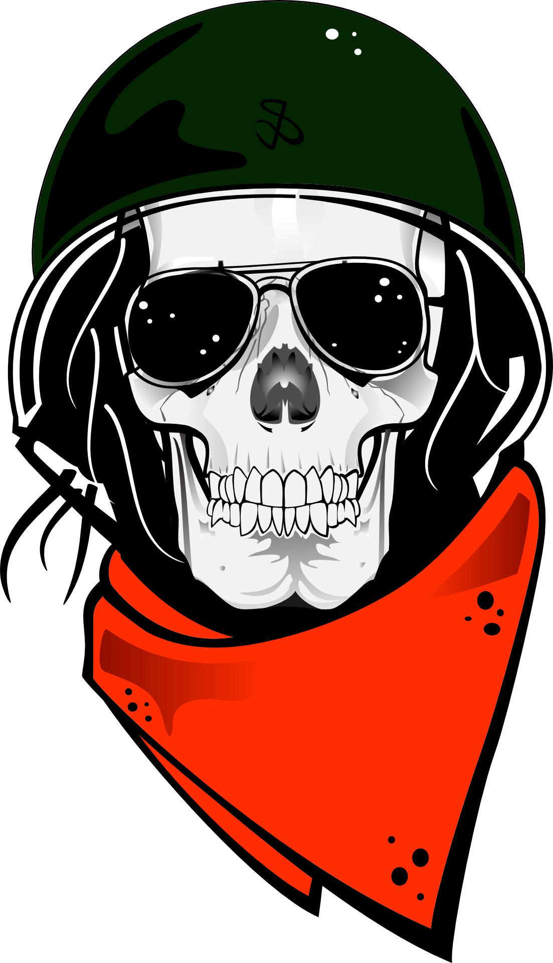 Fashion skull, human skeleton,helmet,sunglass vector