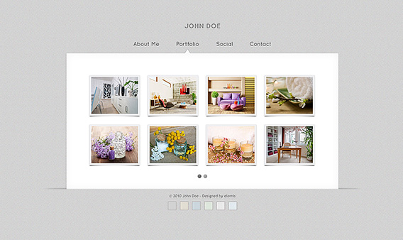 Free Gallery vCard HTML Templates