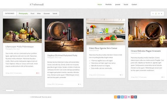 Free Kitchen Theme PSD Template