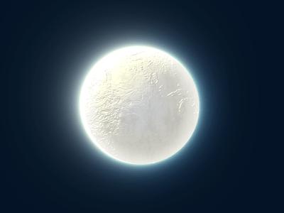 Free Moon PSD-Glow Edges Drop Shadow Emboss
