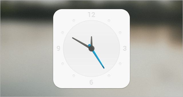 Free White Clock PSD