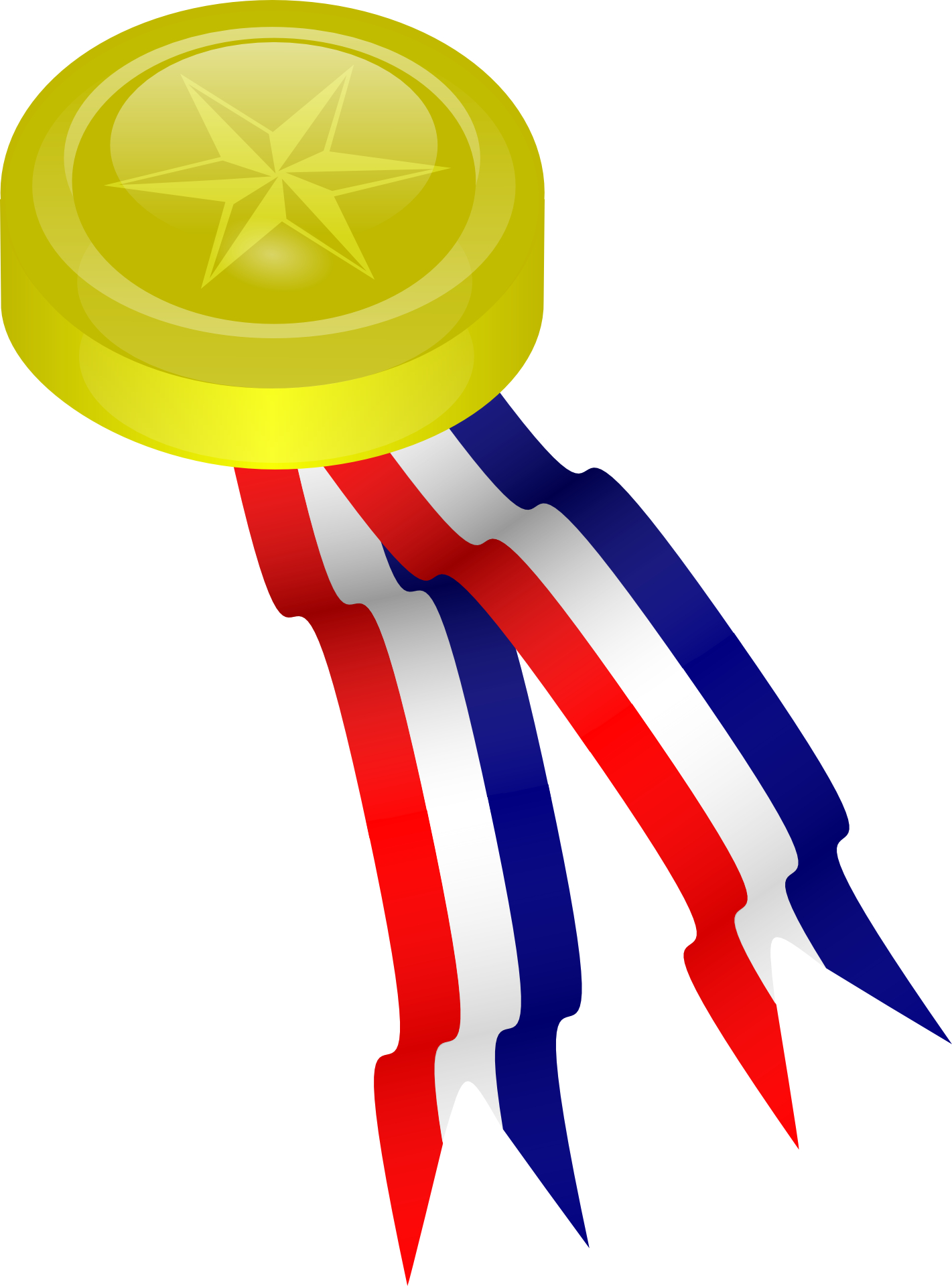 Gold Medal,ribbon vector