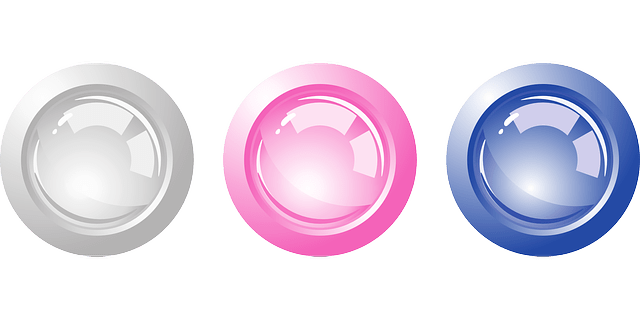 Gray-Purple-Blue Round button vector