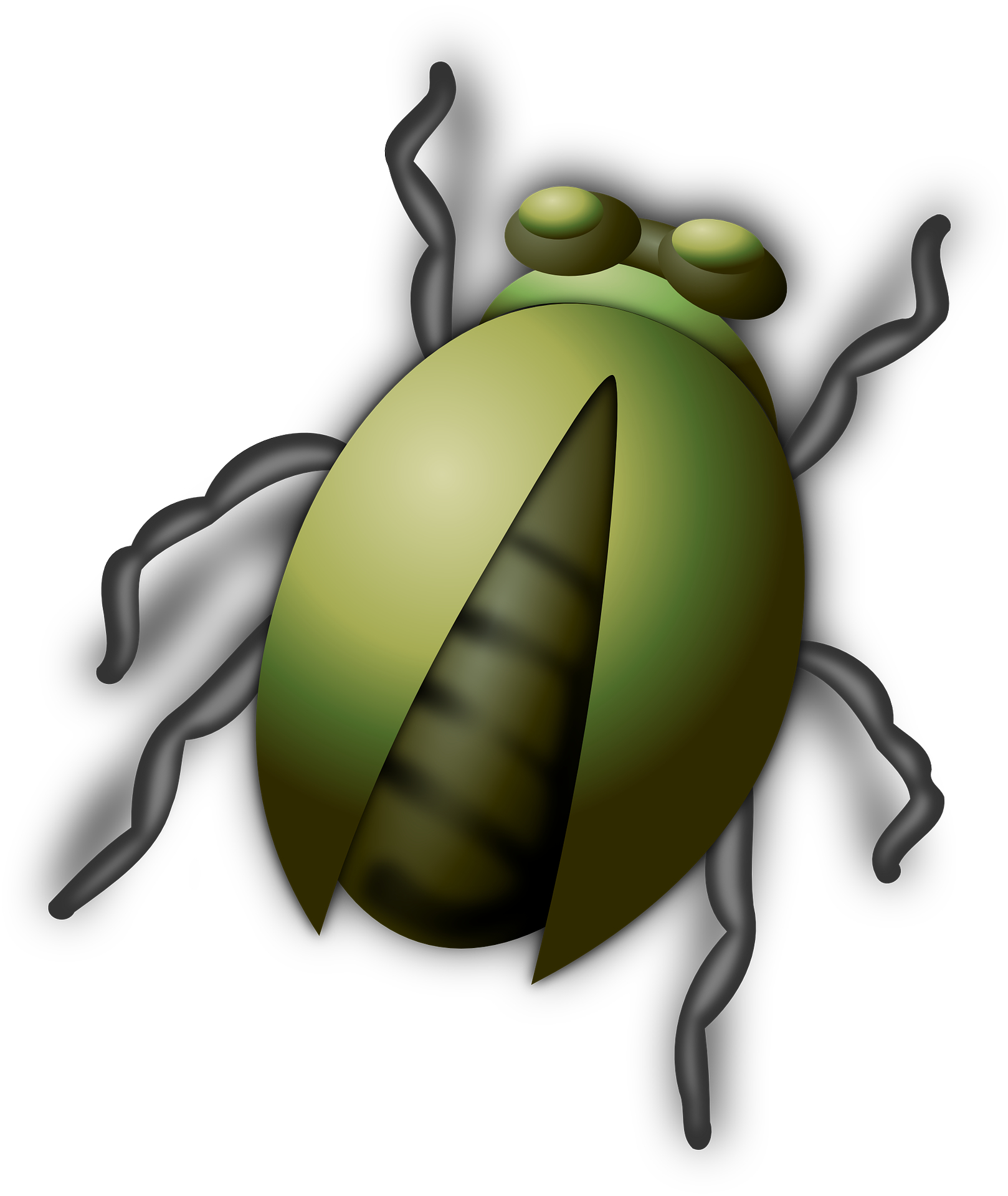 Green cartoon animal,beetle,bug,insect vector