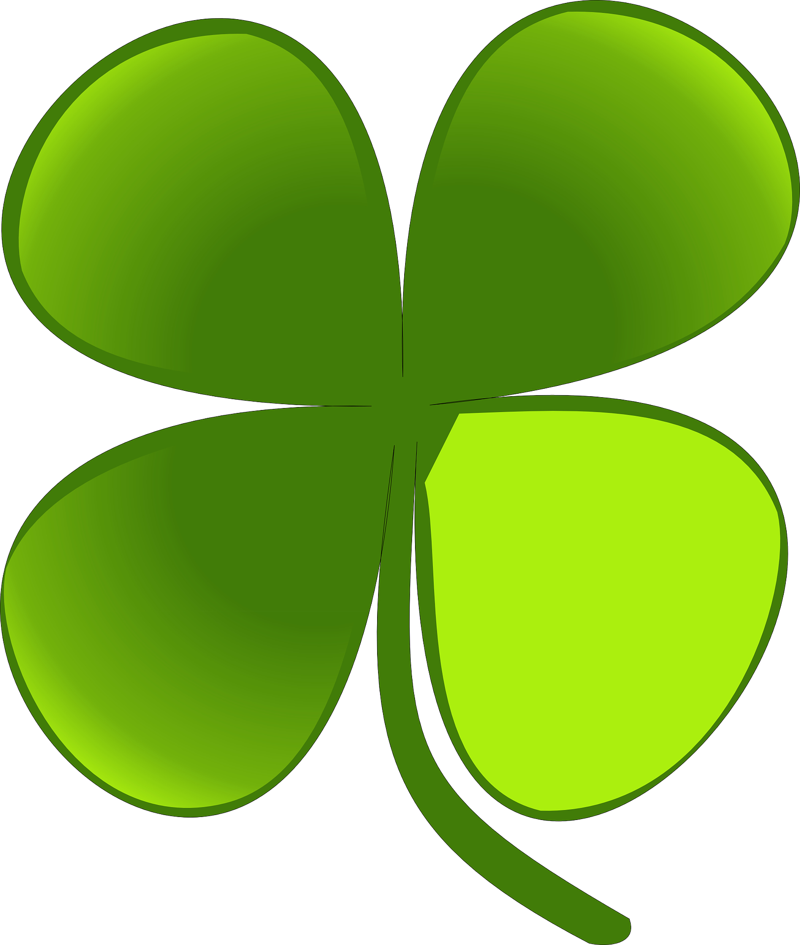 Green plant-cartoon clover vector