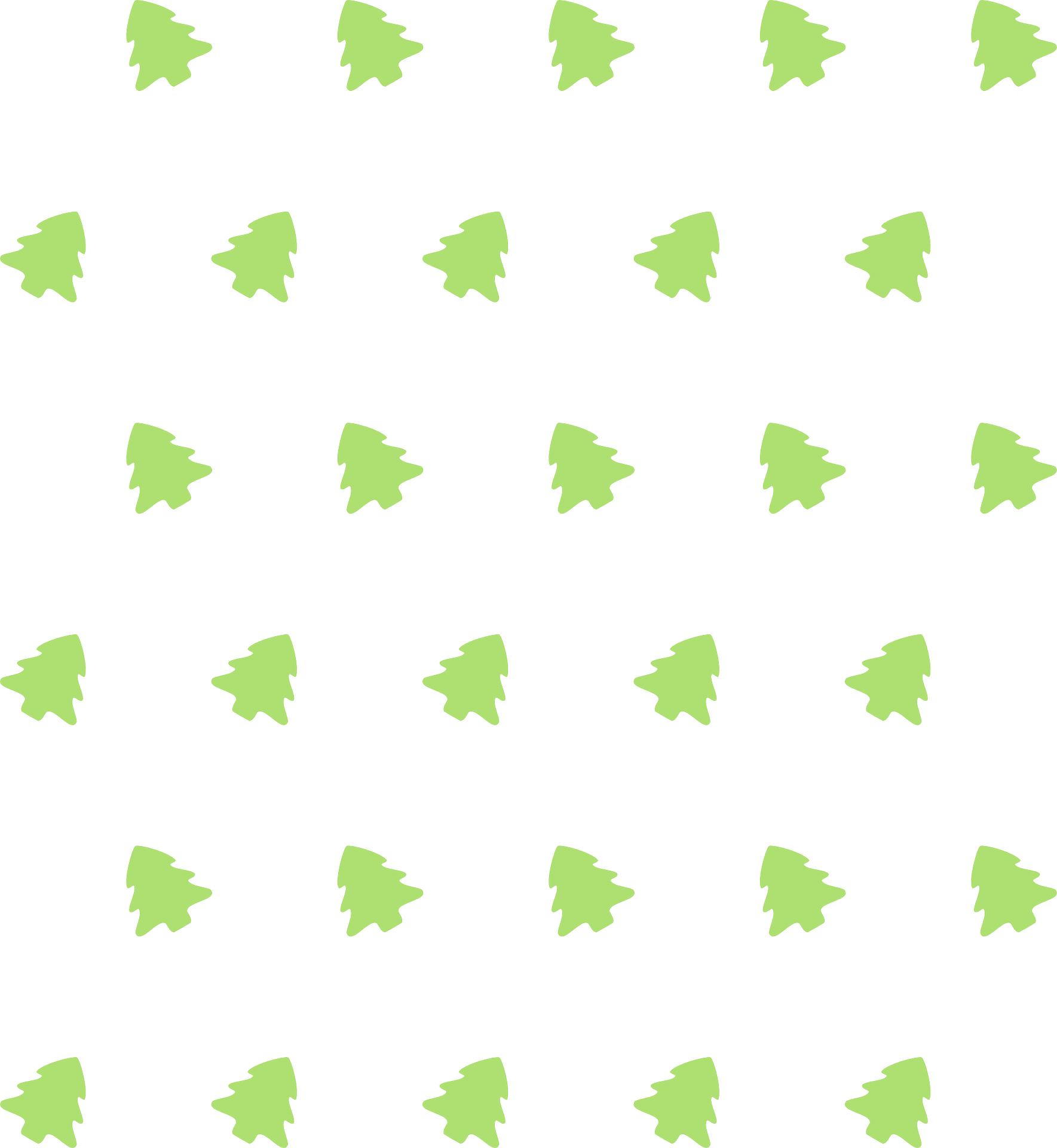 Green tiny tree pattern vector