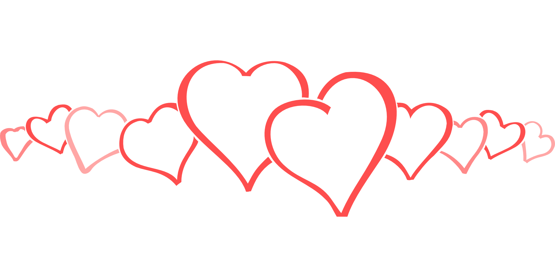 Heart outline pattern vector